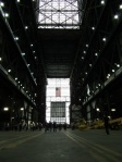 Looking down the VAB