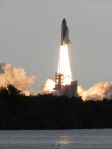 Endeavour clears the tower and shoots into the sky.