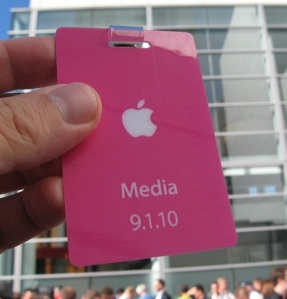 Apple Sept. 2010 press pass