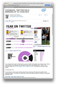 D News post on Twitter Facebook personal annual reports