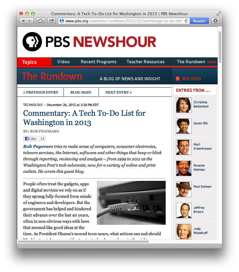 PBS NewsHour post