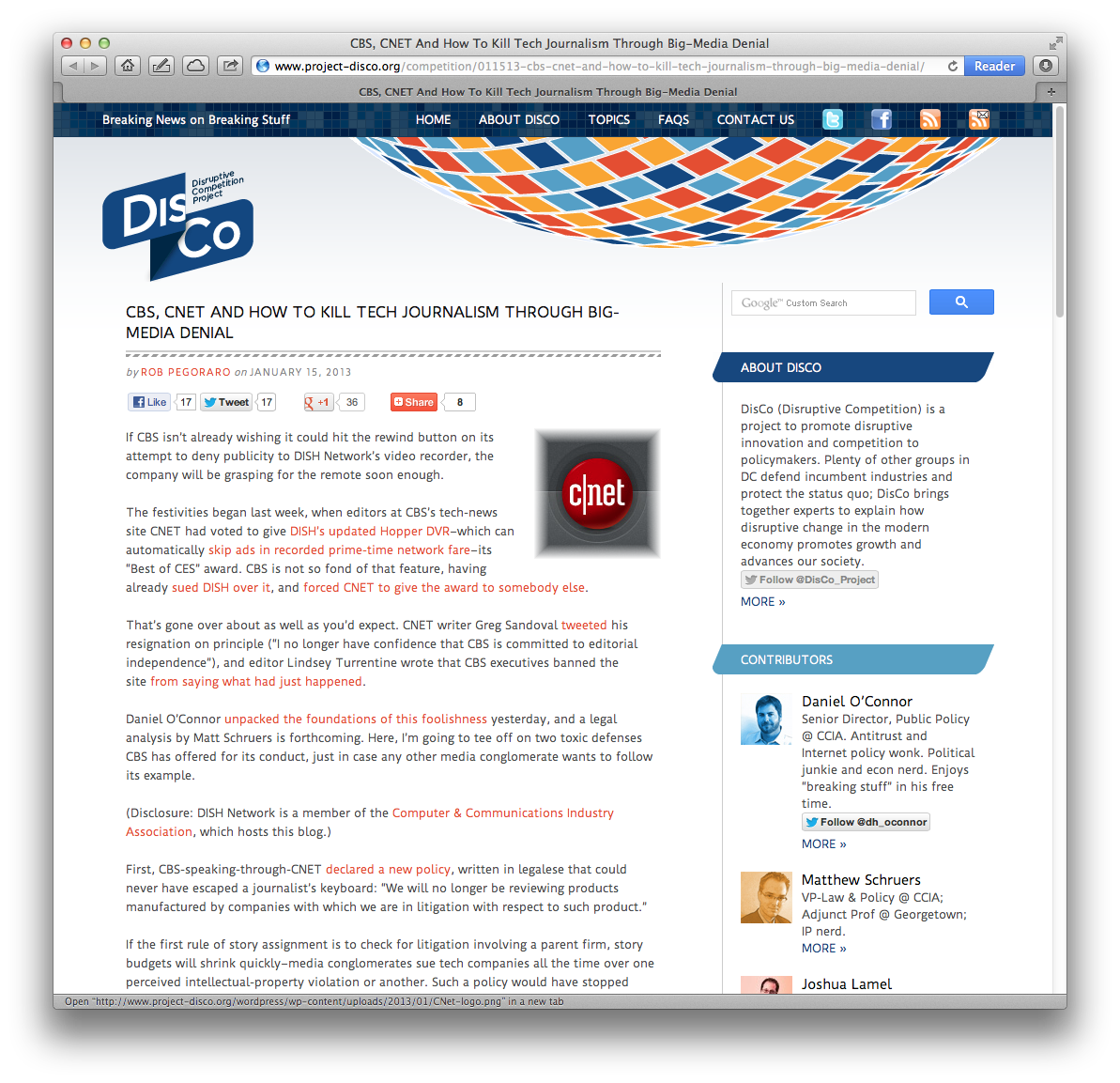 January 2013 rob pegoraro cbs cnet post solutioingenieria Gallery