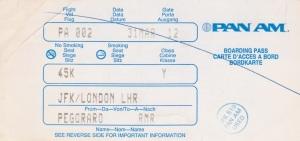 Pan Am boarding pass