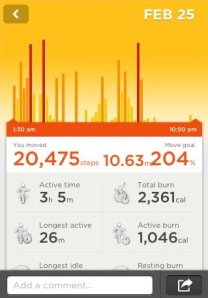 Jawbone Up MWC data