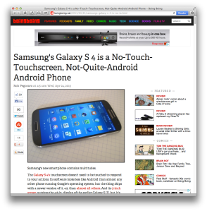 Boing Boing Galaxy S 4 review