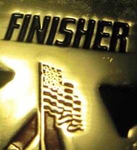 Marathon finisher's medal