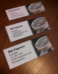 Business-card iteration