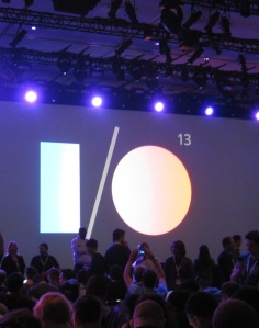 I:O logo onstage