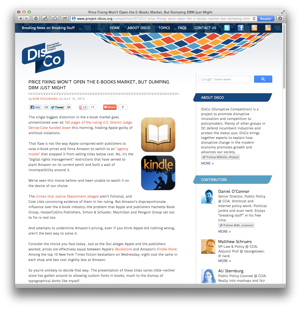 Weekly output: e-books, Facebook Graph Search, TV Guide On
