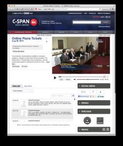 C-SPAN online plane tickets