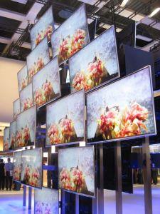 Rack of TVs