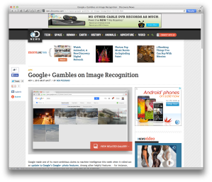 Google+ image-recognition post