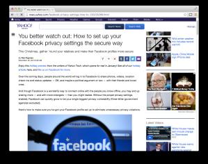 Yahoo Tech Facebook privacy guide