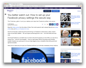 Yahoo Tech Facebook privacy guide