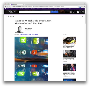Yahoo Tech online-movies post