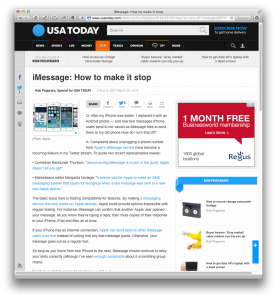 USAT column on iMessage mess