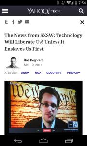 Yahoo Tech SXSW post