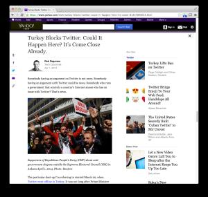 Yahoo Turkey Twitter column