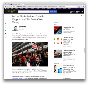 Yahoo Turkey Twitter column