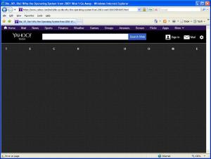 Yahoo XP story in IE 6