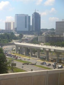 Silver Line track through Tysons
