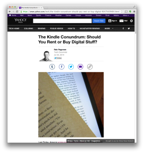 Yahoo Kindle Unlimited post