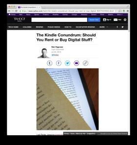 Yahoo Kindle Unlimited post