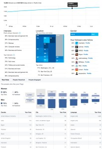 Twitter and Facebook audience analytics