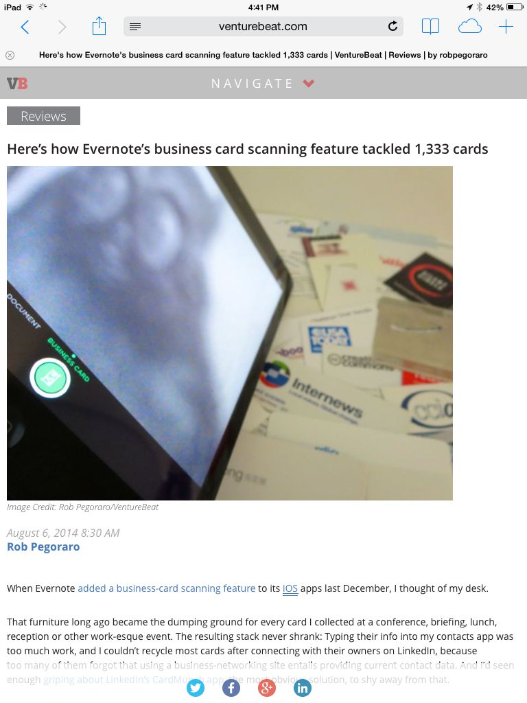Weekly output facebook messenger evernote business card scanning venturebeat evernote review colourmoves