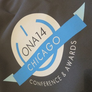 ONA 14 logo on tote bag
