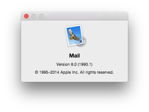 Apple Mail about box