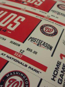 Nats 2014 postseason tickets
