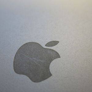 Scratched Apple logo