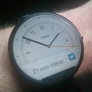 Twitter notifications on watch
