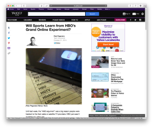 Yahoo Tech post on HBO