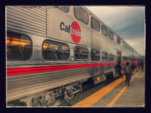 Auto-awesomed Caltrain photo