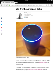 Yahoo Tech Amazon Echo review
