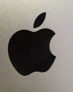 Apple logo on iMac