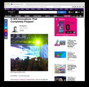 Yahoo Tech CES vaporware