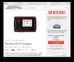 Wirecutter LTE hotspots guide