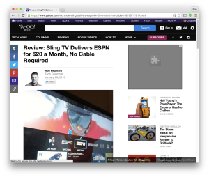 Yahoo Tech Sling TV review