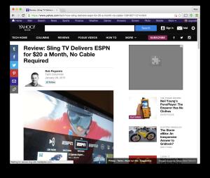 Yahoo Tech Sling TV review