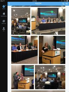 BusinessWire panel photos via Twitter