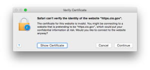 https.cio.gov cert error
