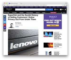 Yahoo Tech Superfish column