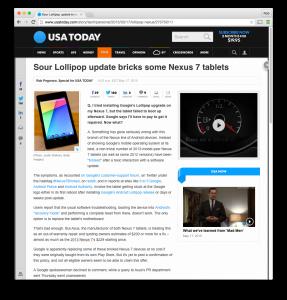 USAT Nexus 7 bricked column