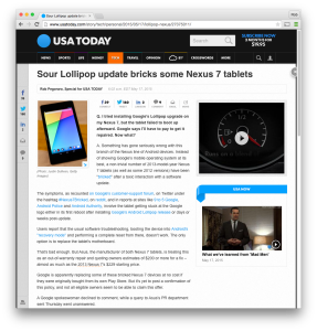 USAT Nexus 7 bricked column