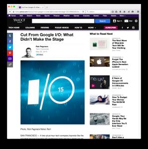 Yahoo Tech 2015 Google-keynote post