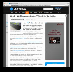 USA Today wireless-bridge post