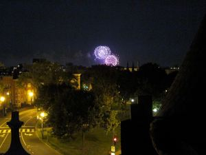 Fireworks from rooftop
